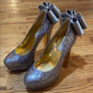 Ted Baker Oaker Women's Silver Platforms Heels